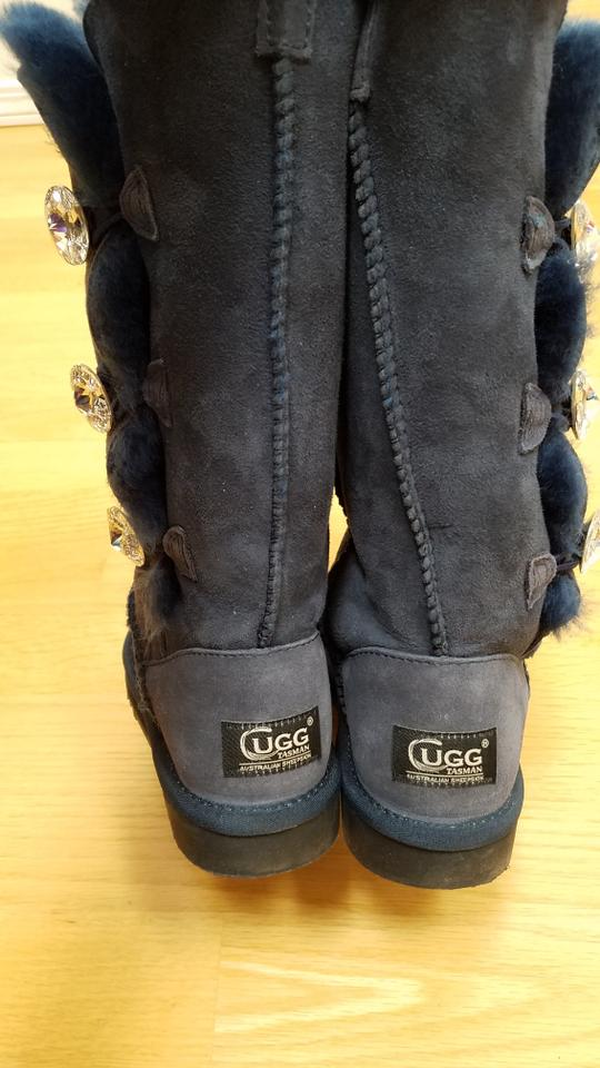 4d37de82bfacd UGG Australia Blue Bailey Button Bling Triplet Boots Booties Size US ...