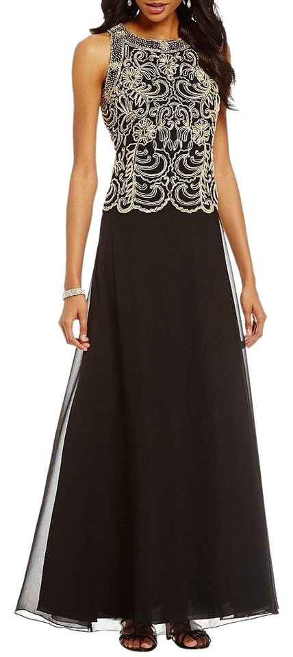 JKara Black Round Neck Sleeveless Bodice