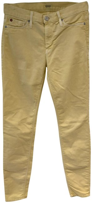 Item - Yellow Light Wash Skinny Jeans Size 27 (4, S)