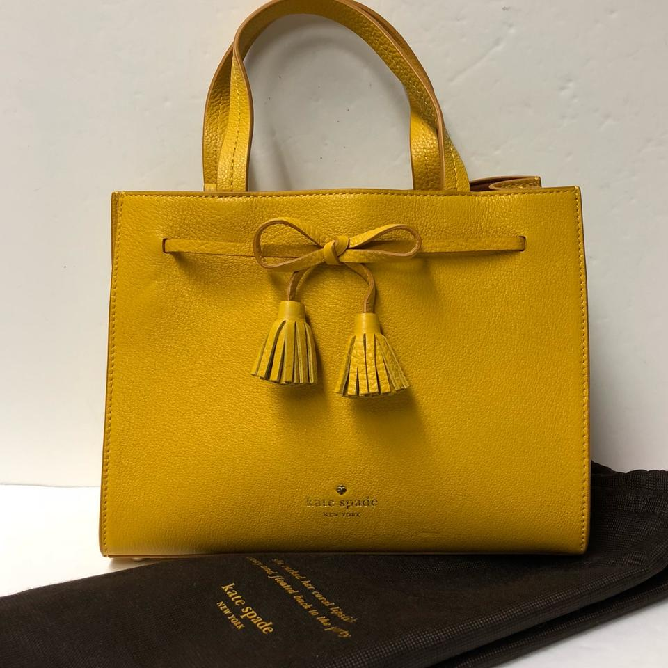 Kate Spade Hayes Street Small Isobel Yellow Leather Satchel in Saffron  Image 0 ... 15f30721180b7