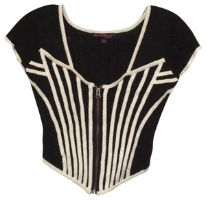 Betsey Johnson Top black and white