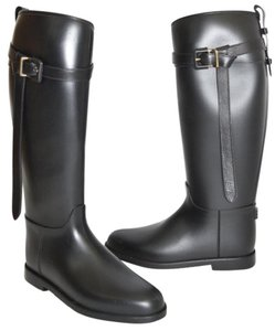 Burberry Equestrian Tall Checkered Tall BLACK Boots