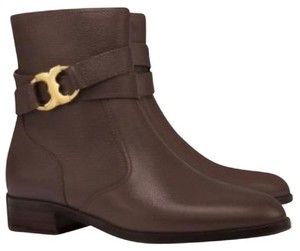 Tory Burch Coconut Leather Rose Gold brown Boots