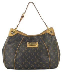 Louis Vuitton Brown Coated Canvas Hobo Bag