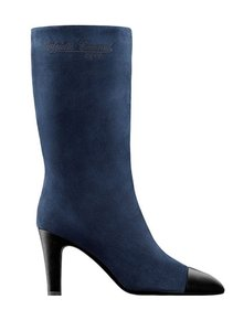 Chanel Gabrielle Ankle Midcalf blue Boots
