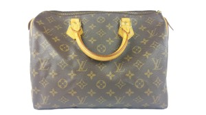 Louis Vuitton Lv Speedy Leather 30 Tote in Brown