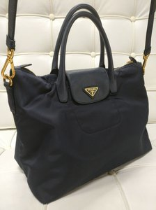 Prada Black Satchel Tote Tessuto Cross Body Bag
