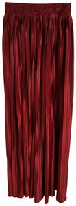 American Apparel Casual Party Summer Office Maxi Skirt Red