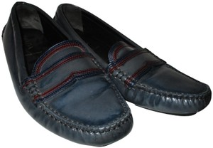 Prada Drivers On Trend Slate Color Blocking Smokey Gray Flat Loafer - 1D 464 A37 Athletic