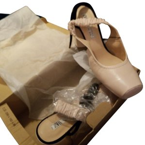 Zara special Edition Nude like rose Mules