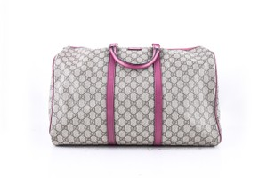 Gucci Dusty Rose Leather Shoulder Beige GG monogram Travel Bag