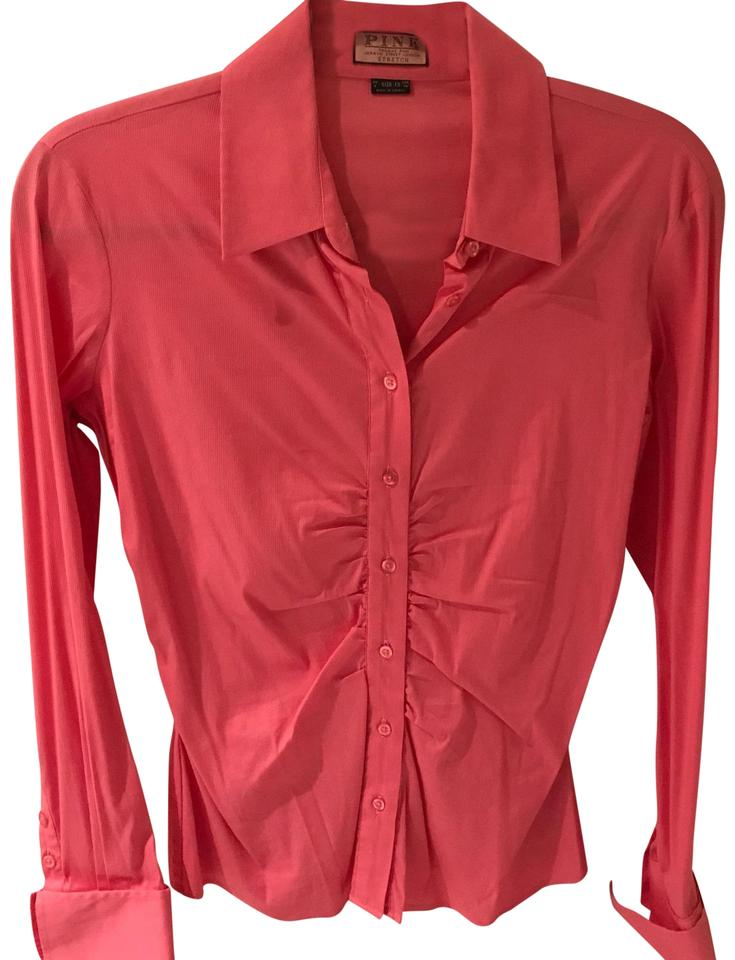 Thomas Pink Women 39 S Fitted Button Down In Blouse Size 6 S