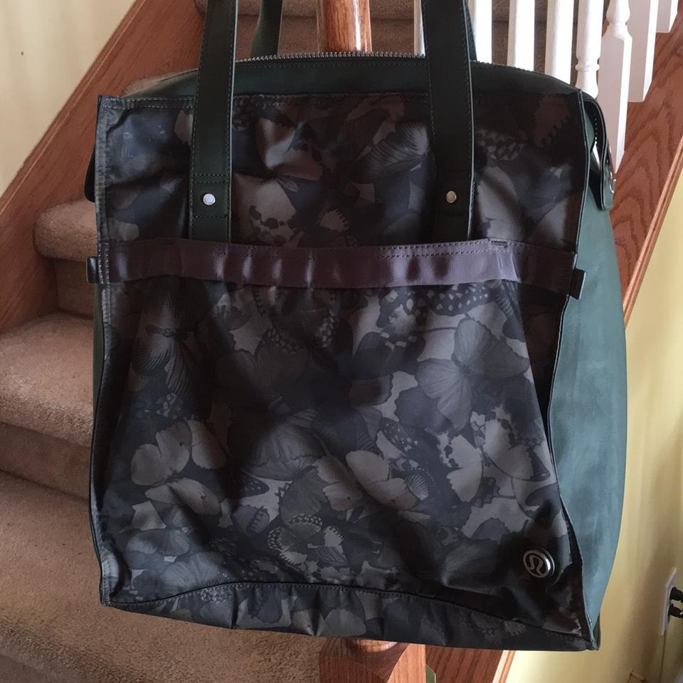 Lululemon Brown Green Polyester Gym Lap Top Carrier Many