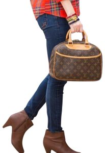 Louis Vuitton Trouville Brown Leather Satchel - Tradesy 085aa8d1d81f1