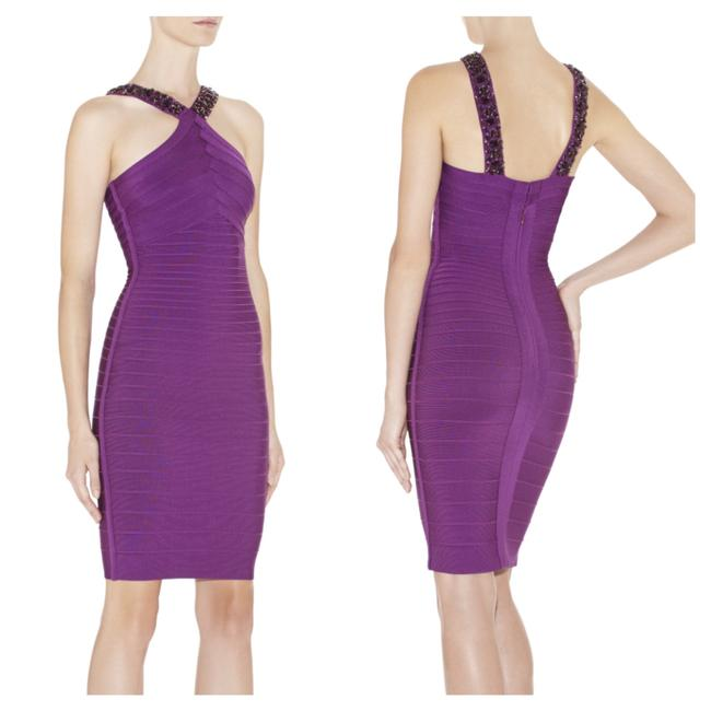 Item - Purple Kamerra Short Cocktail Dress Size 8 (M)