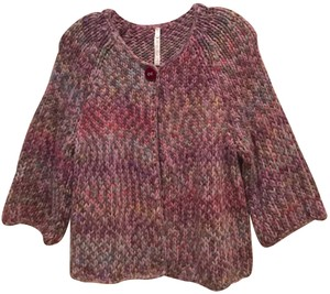 Leo & Nicole Knitted Chunky Knit Marled Sweater Cardigan