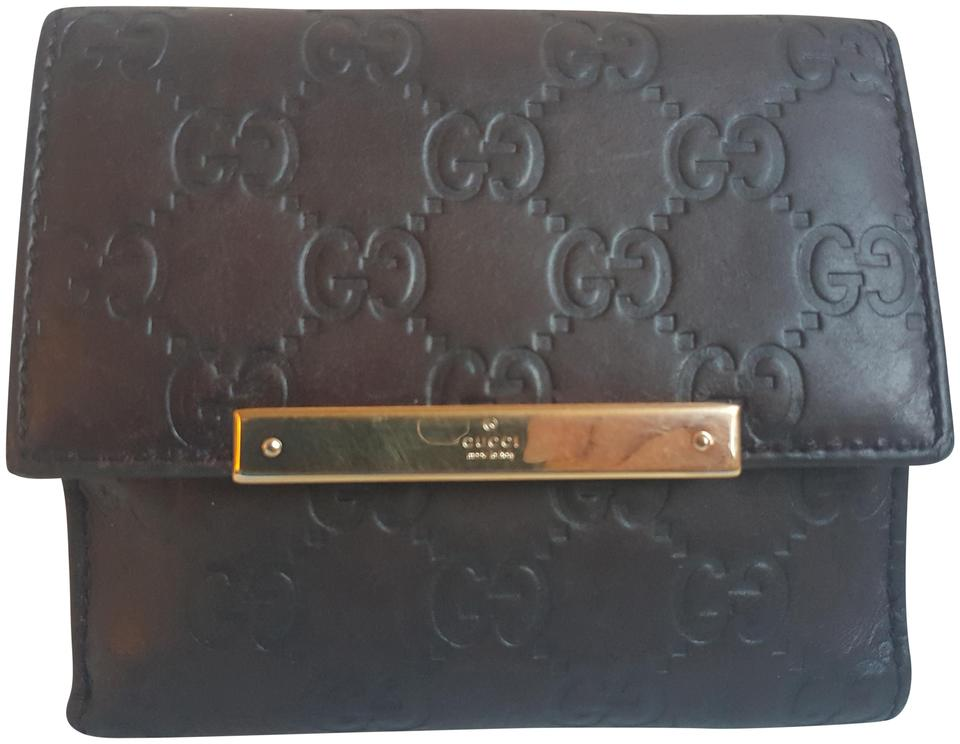 194365391a49 Gucci Brown Leather Metal Bar Guccissima Bifold Wallet - Tradesy