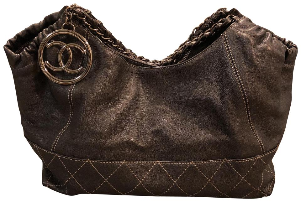 0c2eeed9b Chanel Coco Cabas Bronze Leather Tote - Tradesy