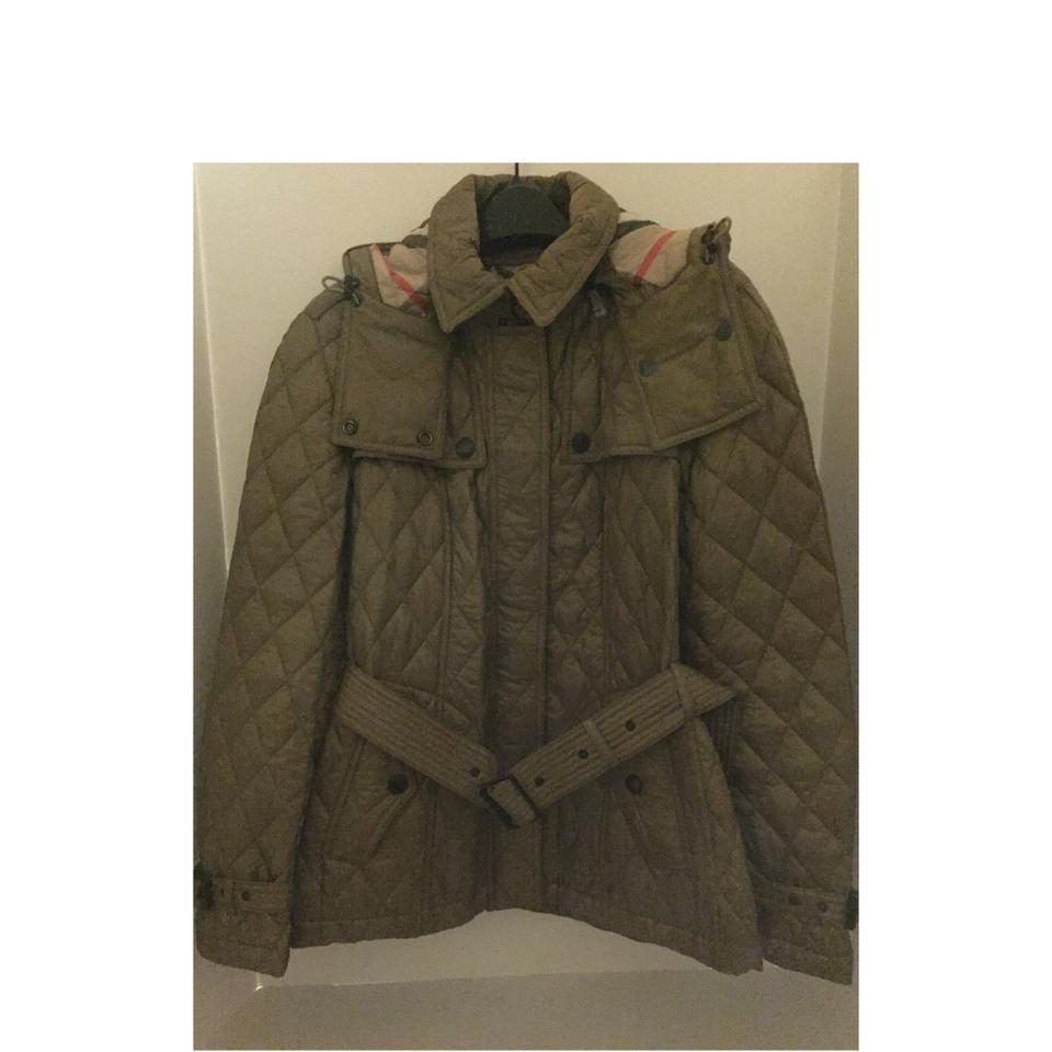 Burberry Pale Fawn Finsbridge Quilted Coat Jacket Medium Coat Size 8 ... f733c82867136