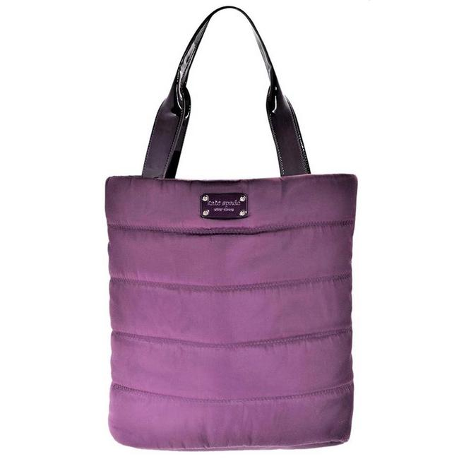 Item - Puffy Alpine Hills Bon Shopper In Purple Nylon Tote