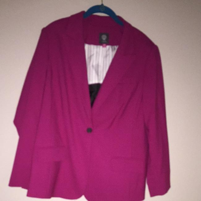 Preload https://item5.tradesy.com/images/vince-camuto-fuschia-pink-one-button-blazer-size-14-l-2276494-0-0.jpg?width=400&height=650