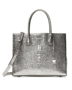 Michael Kors Mercer Tote in silver Pewter