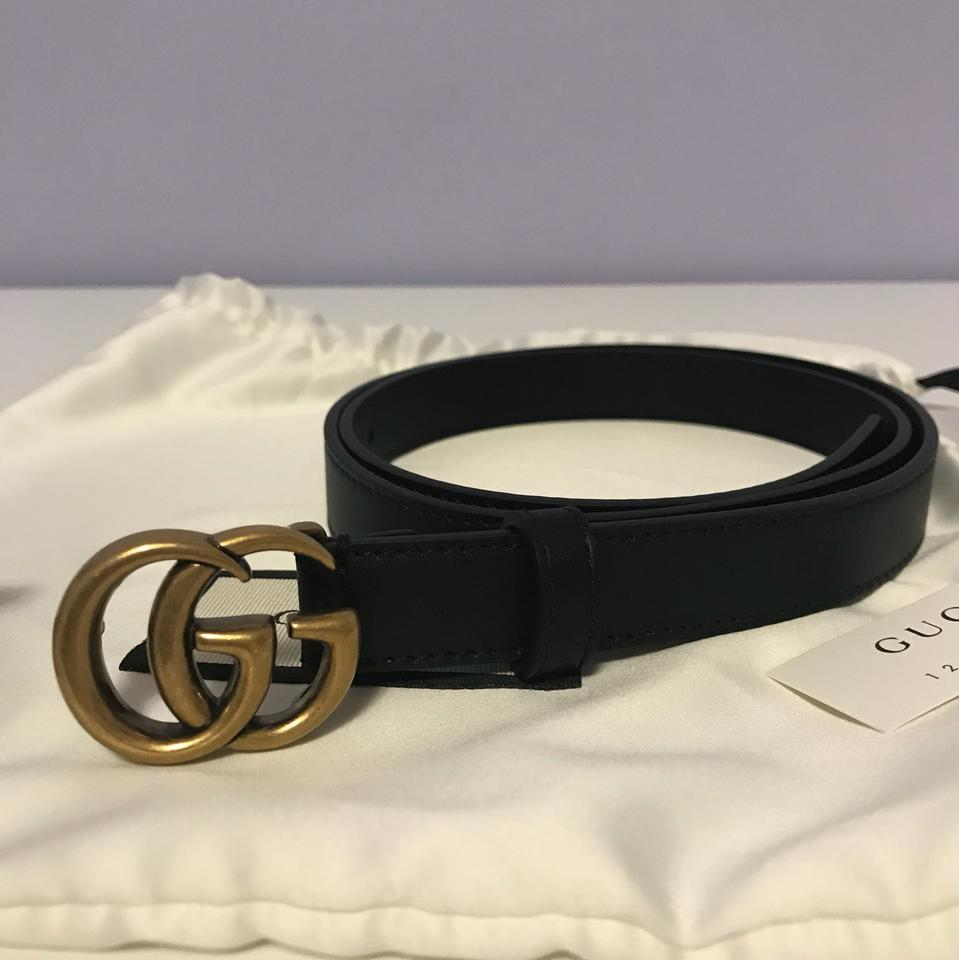 18e392339 Gucci Brand New Size 90/36 GG-logo 2cm leather belt Image 11.  123456789101112