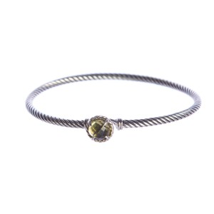 David Yurman Chatelaine Bracelet with Lemon Citrine 3mm Size Medium $325 NWOT