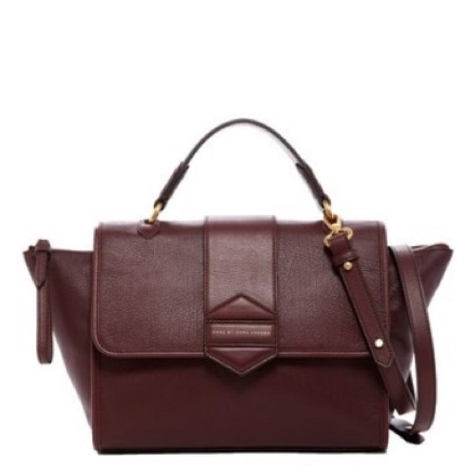 marc by marc jacobs wine leather flipping out satchel tradesy. Black Bedroom Furniture Sets. Home Design Ideas