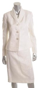 Le Suit Le Suit White Jacquard Pattern Pencil Sstyle 2 PC. Skirt Jacket Suit