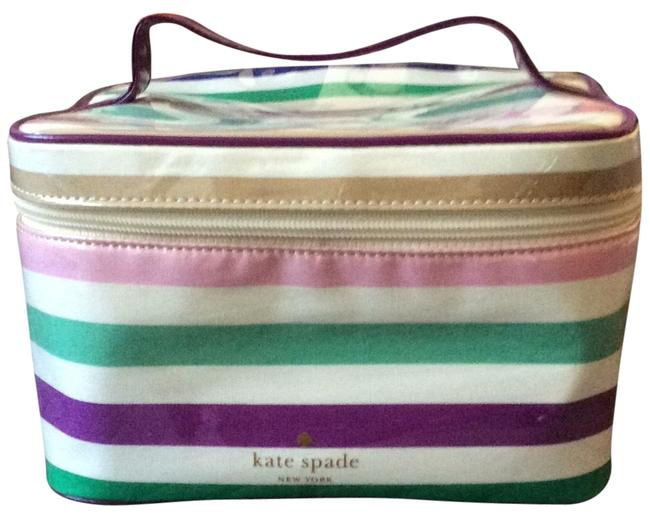 Item - Straps Pink Green Purple Brown New York Cosmetic Bag