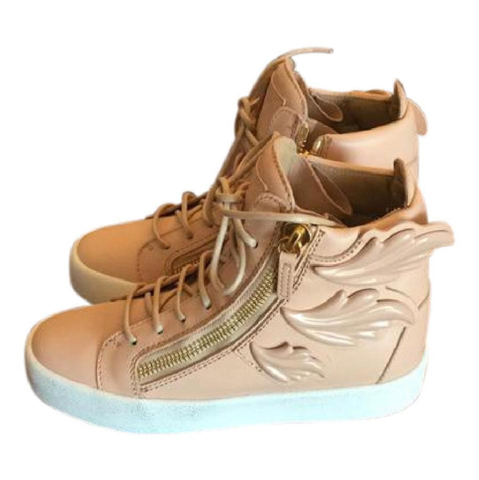 a033e72675aa3 Giuseppe Zanotti Tan New Wing Sneakers Size US 6 Regular (M, B ...
