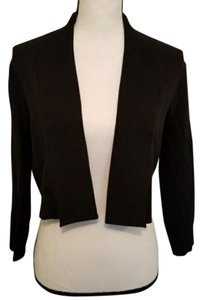 Calvin Klein Open Front Cropped Solid Cotton Cardigan
