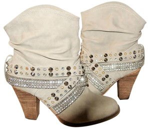 Not Rated Cowboy Western Rhinestone OFF WHITE Boots