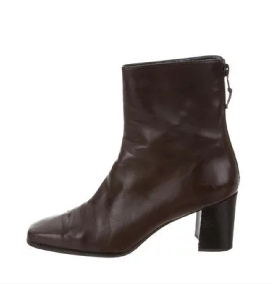 Weitzman Ankle Boots Booties Leather Brown Stuart SUfxdqvv