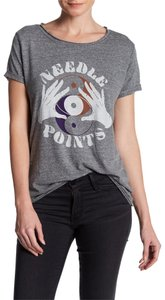 Free People Graphic Small Yin Yang T Shirt Grey