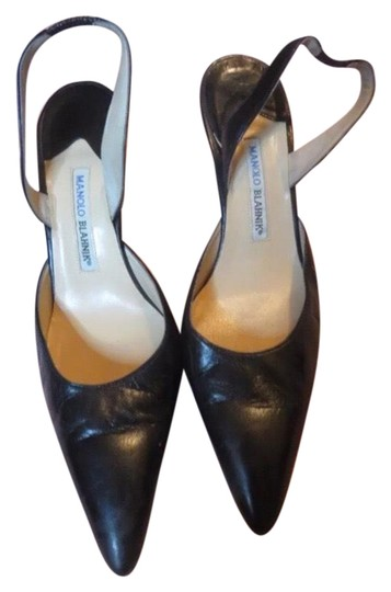 Preload https://img-static.tradesy.com/item/22766303/manolo-blahnik-black-it-pointy-toe-sling-leather-slip-on-pumps-size-eu-405-approx-us-105-narrow-aa-n-0-1-540-540.jpg