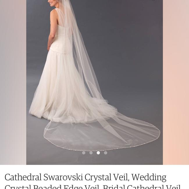 Unbranded White Long Cathedral Bridal Veil Unbranded White Long Cathedral Bridal Veil Image 1