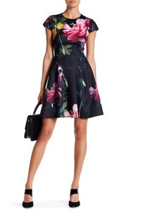 Ted Baker short dress Black Alissa Citrus Bloom Skater on Tradesy