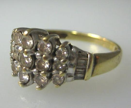 Other 14k,Multi,Tone,Gold,Diamond,Ladies,Ring,Size,7
