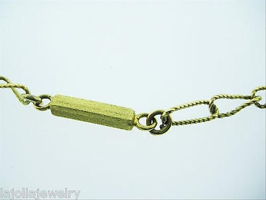 Other Fine,Vintage,18k,Yellow,Gold,Bar,Twisted,Long,34,Link,Necklace