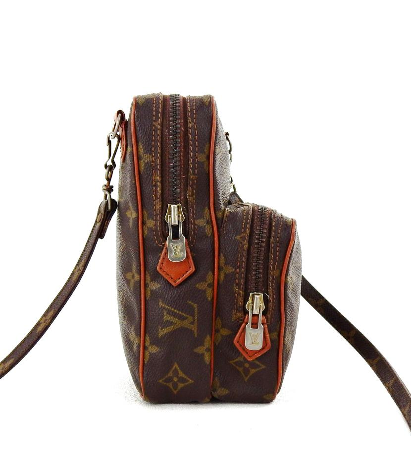 louis vuitton w amazon vintage mini w dustbag brown monogram canvas leather cross body bag. Black Bedroom Furniture Sets. Home Design Ideas