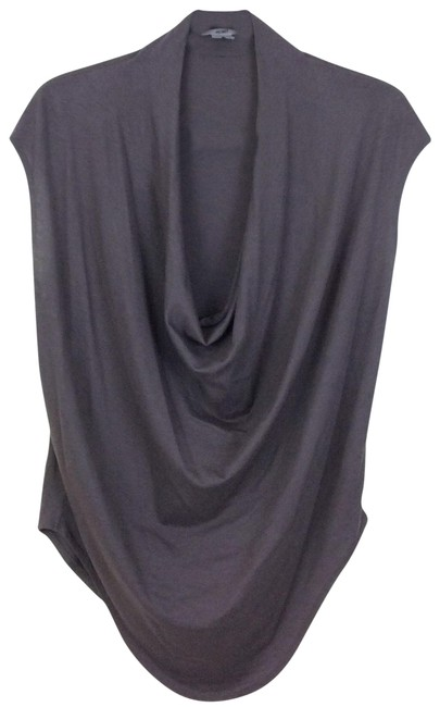 Item - Taupe Jersey Feather Draped Shirt Blouse Size 4 (S)