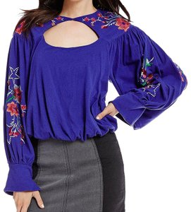 Free People Top Blue