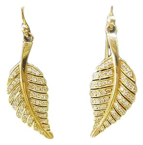 Jennifer Meyer Jewelry Jennifer,Meyer,18k,Yellow,Gold,Diamond,Leaf,Earrings