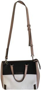 Marc by Marc Jacobs Satchel in Colorblock, black, white and beige