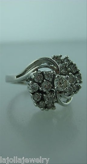 Other 14k,White,Gold,Diamond,Cluster,Ladies,Ring,Size,5.5