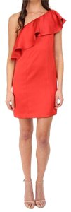 ZAC Zac Posen Size 0 Julia One Shoulder Red Dress