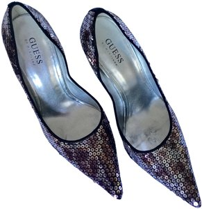Guess By Marciano Silver, Wine, & Champagne Pumps