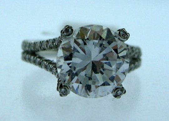 Other 18k,White,Gold,Ladies,Micro,Pave,Diamonds,Ring,Size,4.5